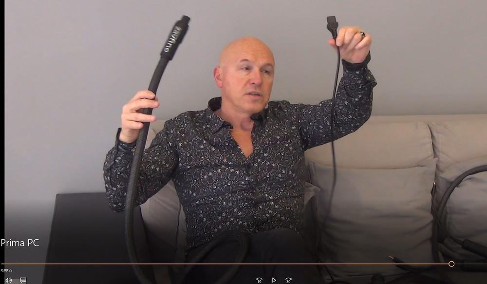 ролик о силовой кабеле для High-End аппаратуры Zavfino Prima mk2.