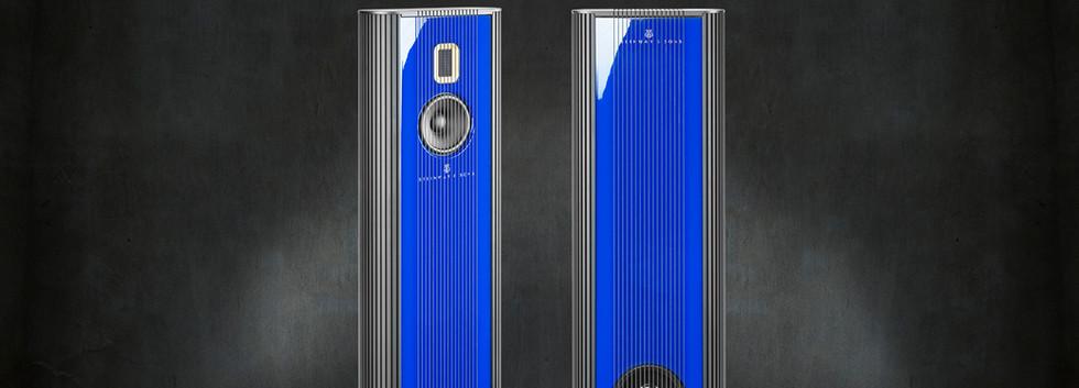 Steinway Lyngodrf Model O - лак ультра-синий морской.