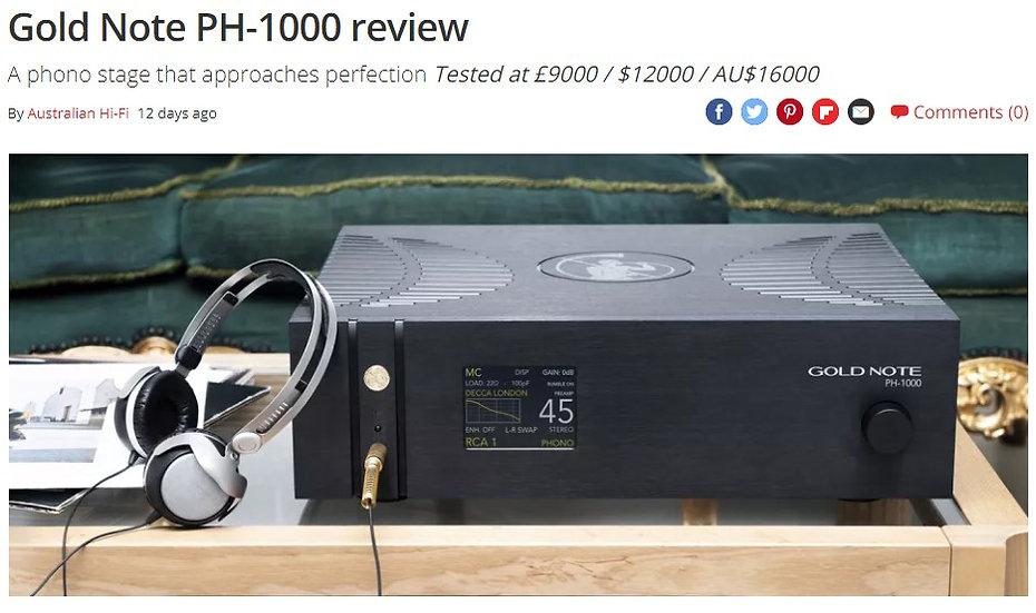 тест фонокорректора Gold Note PH-1000 в журнале What Hi-fi.