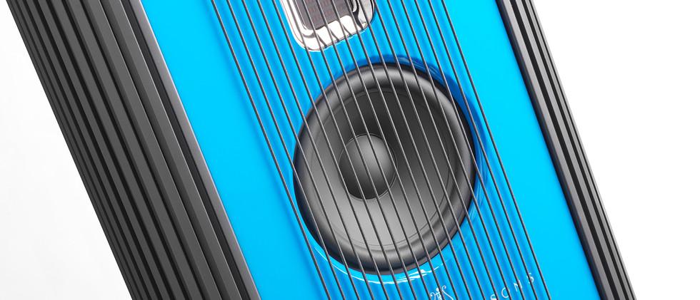 Steinway Lyngdorf Model O - лак небесно-голубой.