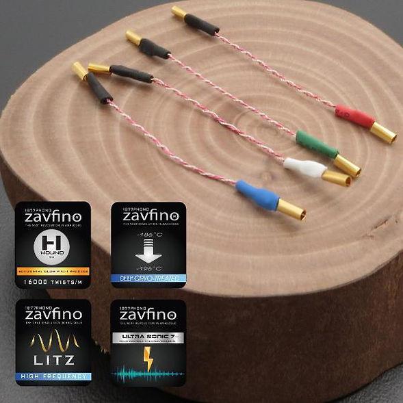 Zavfino CryoLitz-Ag™ - кабели для шелла тонарма. Проводники серебро.