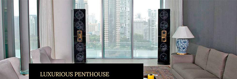 High-End акустика для пентхауза, high-end акустика при панорамных окнах