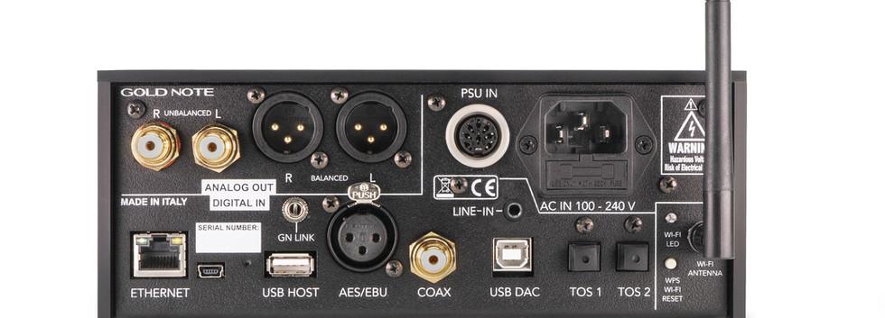 Gold Note DS-10-PLUS - задняя панель