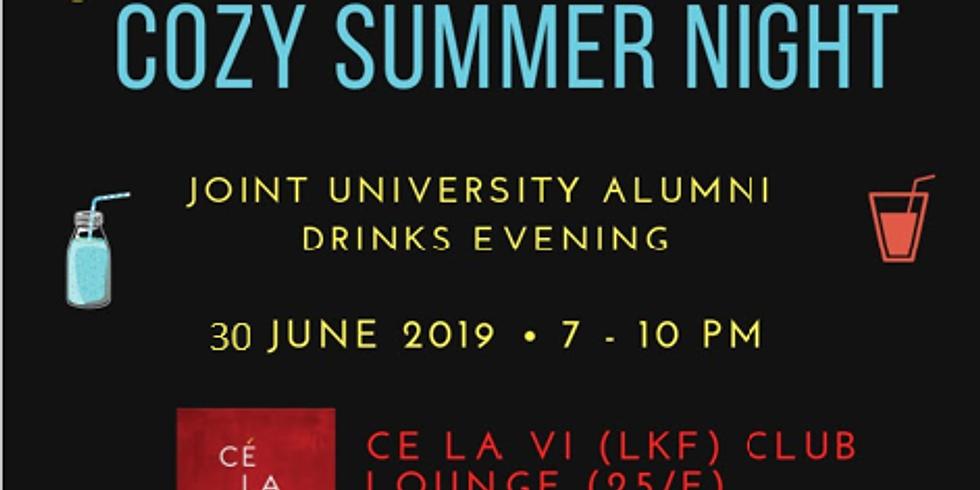 We're back! Cozy Summer Night (Joint-university Alumni Drinks event)