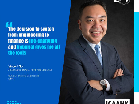 Alumni of the Month: Vincent So (BEng Mechanical Engineering; MBA)