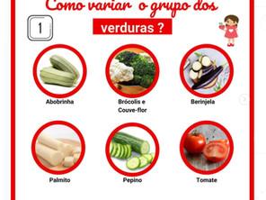 Como variar o grupo das verduras?