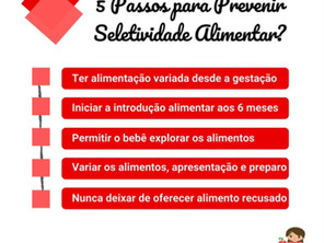 Cinco Passos para Prevenir Seletividade Alimentar?