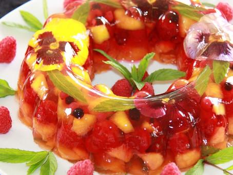 Gelatina de fruta de verdade