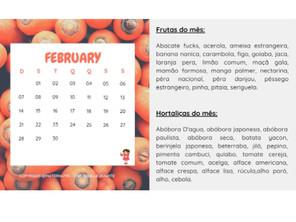 Frutas e Hortaliças de Fevereiro