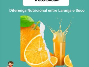Você Sabia? Diferencial Nutricional entre Laranja e Suco.