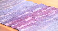 大判ショール 紫着物 紫雲たなびく シャポーチホレーヌ鎌倉ハンドフェルトの帽子