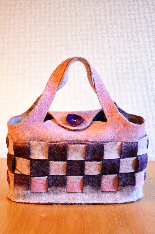 Chiholaine フェルトバッグの作り方 市松模様