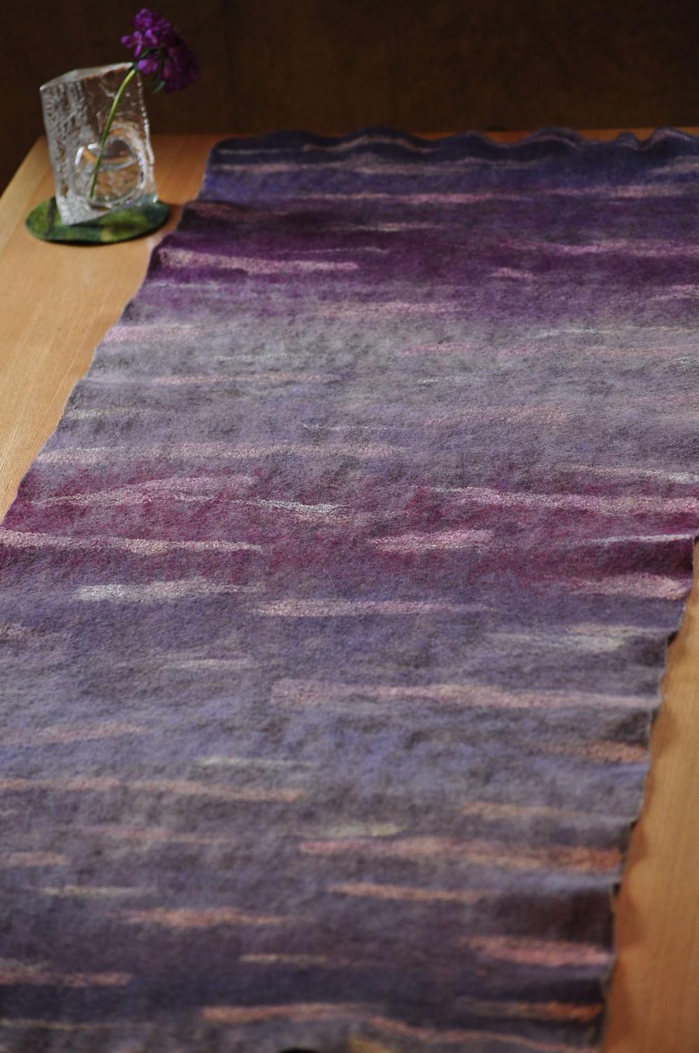 Chiholaine お着物に合うウールと絹の大判ストール 表