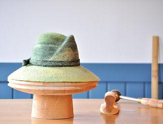 シャポーチホレーヌ鎌倉ハンドフェルトの帽子羊から帽子まで.JPG