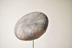 Grace 桜薄茶  シャポーチホレーヌ鎌倉ハンドフェルトのベレー帽