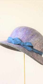 シャポーチホレーヌ鎌倉ハンドフェルトの帽子彩り