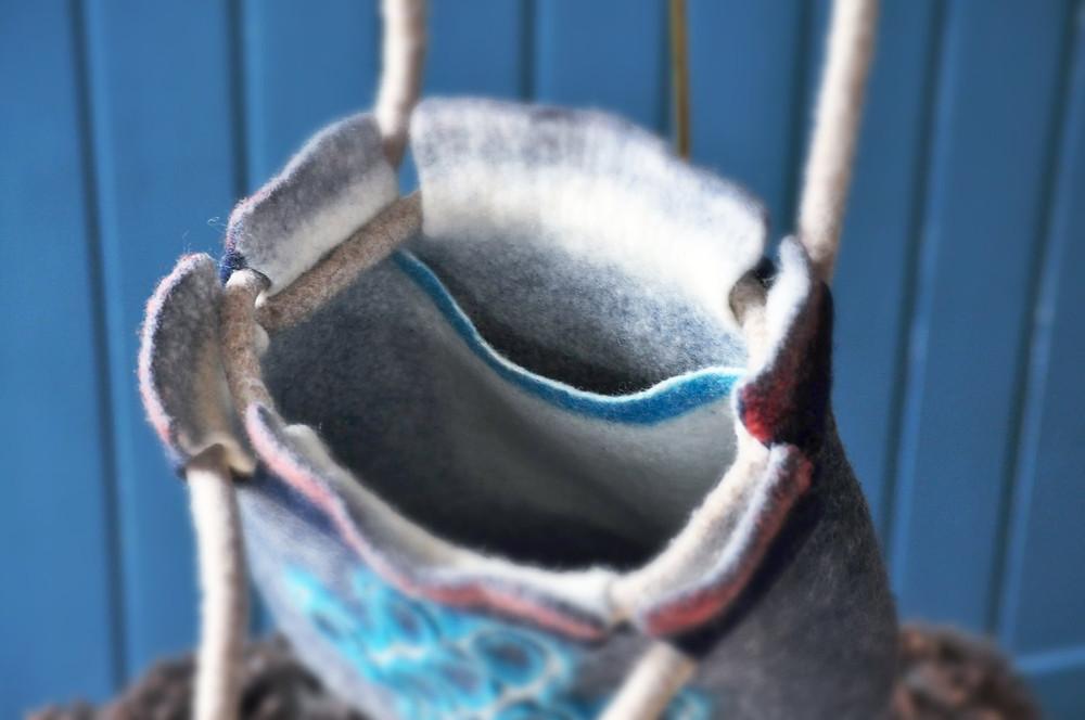 Chiholaine フェルトバッグの作り方 縫わずにポケットと紐を一体化