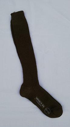 Chaussette modèle femme marron.