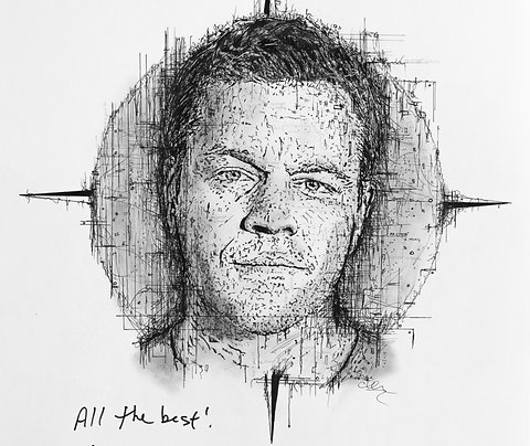Matt Damon Portrait for Pieta