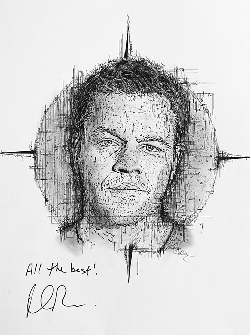 Matt Damon Portrait for Pieta