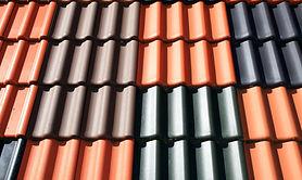 Metal tile roofing material