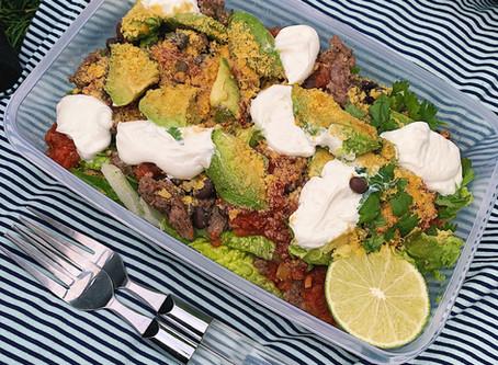 Healthy Taco Salad Recipe, Perfect for a Summer Picnic!