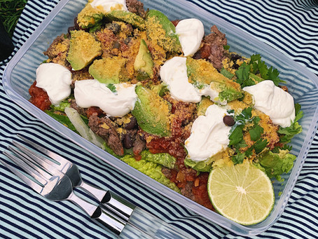 Healthy Taco Salad Recipe, Perfect for a Summer Picnic!