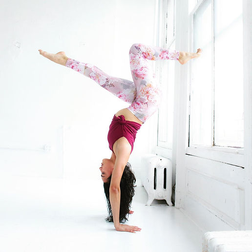 Healthy lifestyle yoga flow