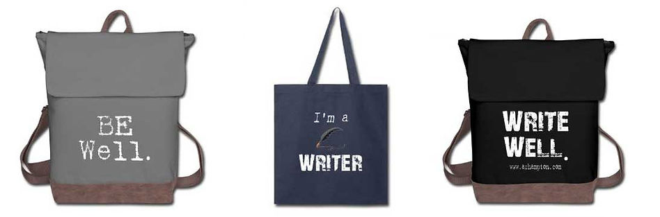 backpacks and totes for writers