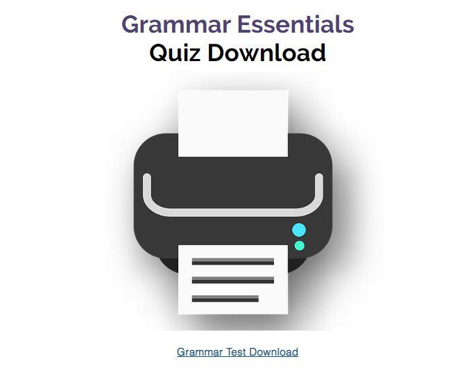 Grammar Quiz Download pdf