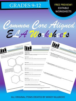 Free K-12 ELA Printables #6