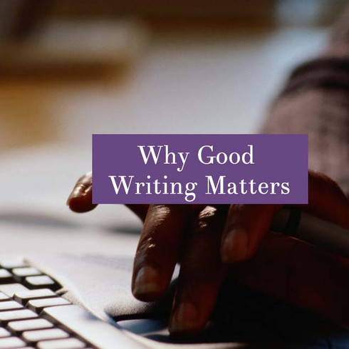 Why Good Writing Matters