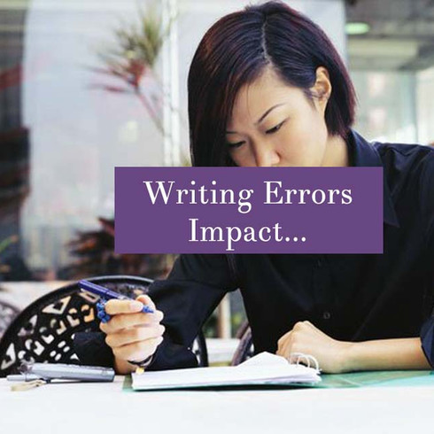 How Writing Errors Impact Your Professional Presence
