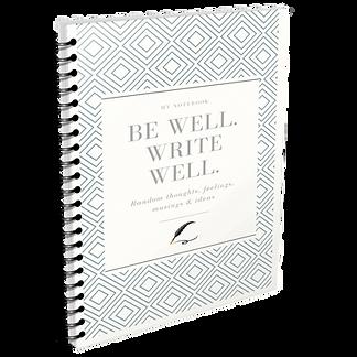 be well spiral notebook