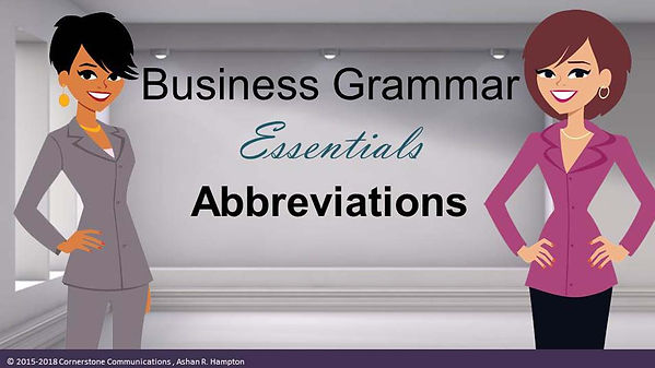 business grammar video