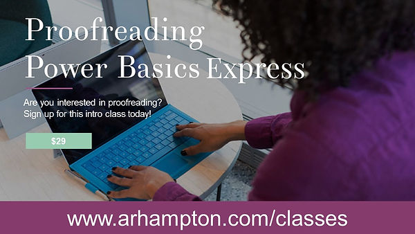 proofreading courses online