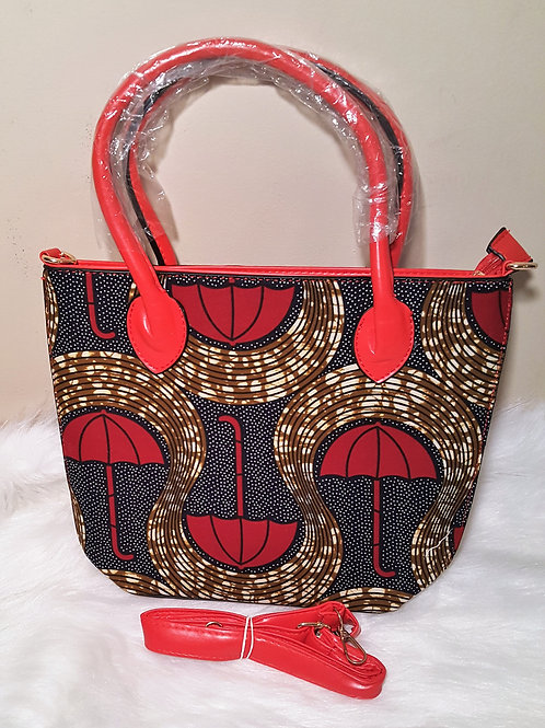 Brown and Red Umbrella Cross Bag