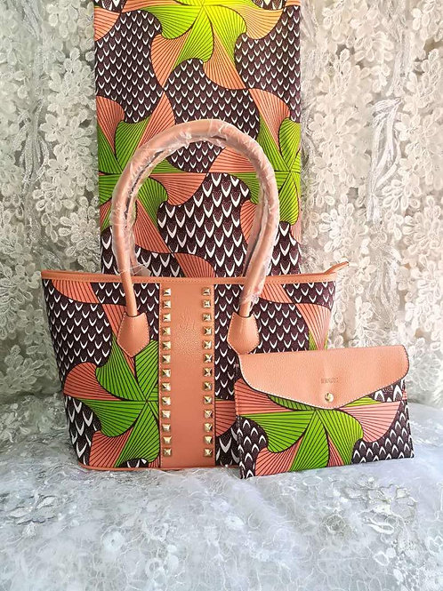 Leather African Print AnkaraTote