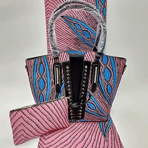 Pink Ankara Bag