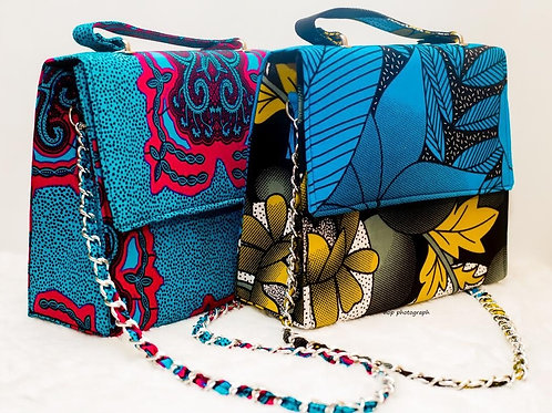 Handmade Ankara Print Cross Shoulder Bags