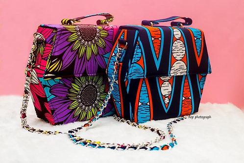 Ankara Print Cross Shoulder Bags