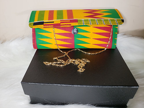 Ada Mini Clutch Bag (Kente Print)