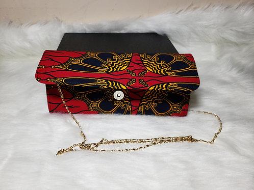 Ada Mini Clutch Bag (Red Ankara Print)