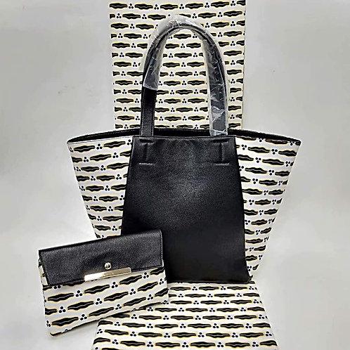 Ankara Tote Bag and Clutch