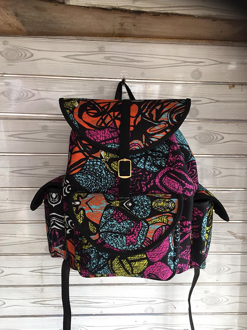 Large Multicolored Backpack