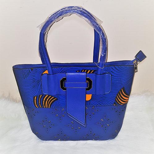 Ankara and Leather Handmade Tote Bag (1pc)