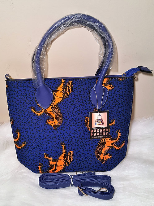 Blue and Yellow Horse Cross Bag