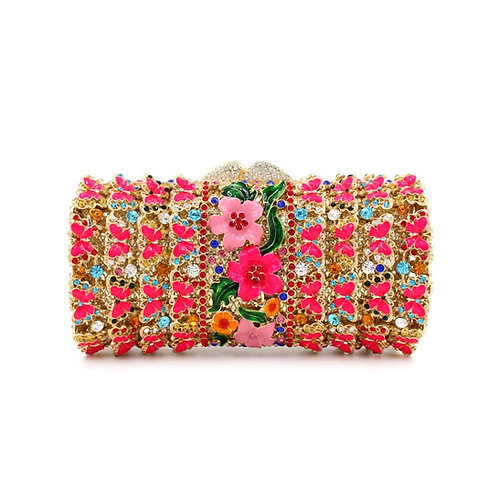 Pretty in Pink Crystal Clutch