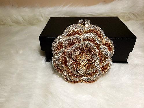 Gold and Diamond Sunburst Crystal Bag