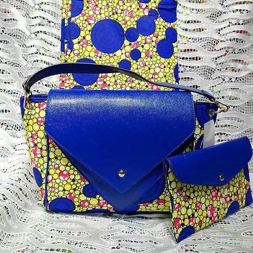2 Pc Ankara Print Shoulder Bag & Wallet